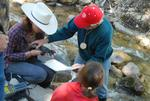 Photo of students working with hydrology.