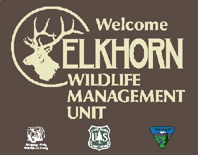 Sign for the Elkhorn Management Unit