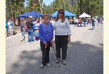 Color photo of two women who attended the Earth Day event.