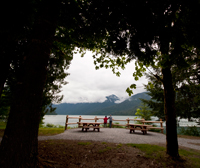 Swift Creek Campground on the shores of Baker Lake. Renee Bodine, US Forest Service.
