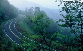 View of Cherohala Skyway in Cherokee National Forest