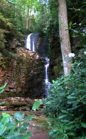 View of Rock Creek Falls Hike in Cherokee National Forest