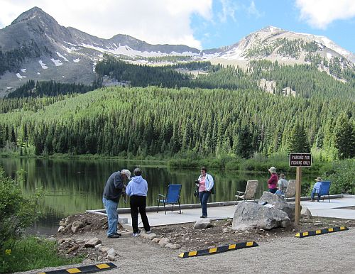 Photo Of New Cement Accessible Fishing Deck Lost Lake