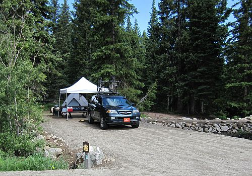 photo of spur road into tent site