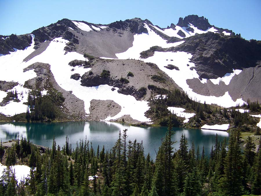 Goat Lake in Buckhorn Wilderness.