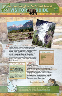 Image of the cover page for the Caribou-Targhee National Forest Visitor Guide.