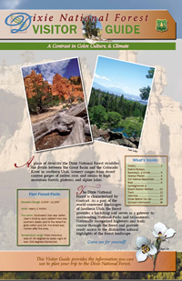 Image of the cover page for the Dixie National Forest Visitor Guide.