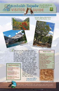 Image of the cover page for the Humbolt-Toiyabe National Forest Visitor Guide.