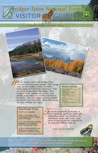 Image of the cover page for the Bridger-Teton National Forest Visitor Guide.