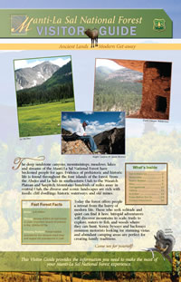 Image of the cover page for the Manti-La Sal National Forest Visitor Guide.