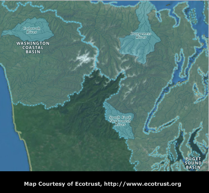 Olympic National Forest Priority Watershed Location Map