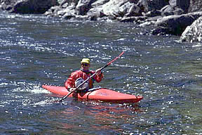 Photo of kayaking the Lochsa River.