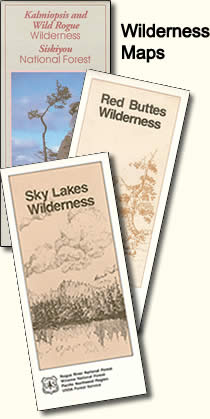 Image of various wilderness maps.