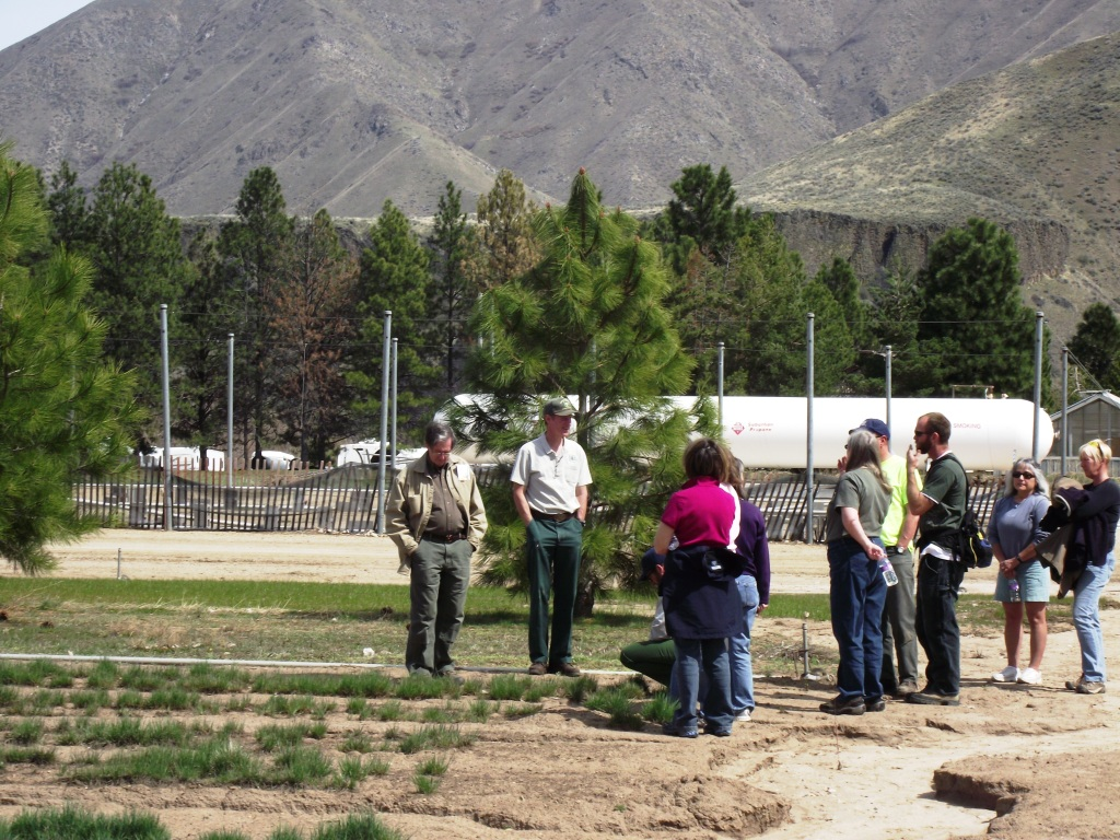 Forest employee giving a tour of the Nursery