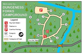 Map of Dungeness Forks Campground