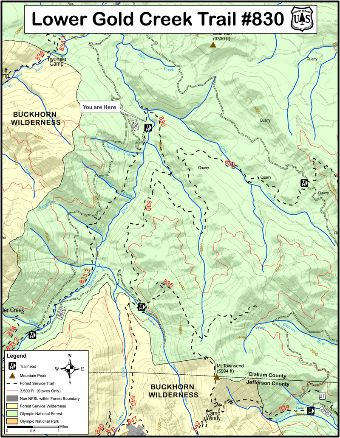 Gold Creek Trail #830 Map