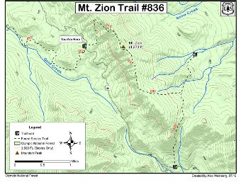 Mt. Zion Trail #836 Map