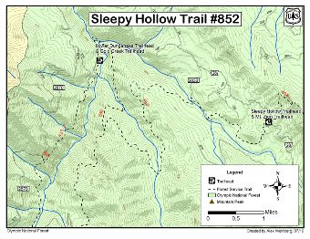 Sleepy Hollow Trail #852 Map.