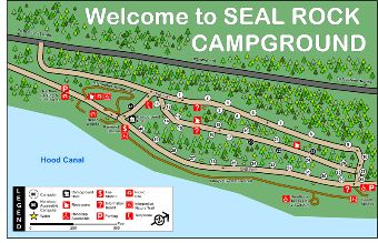 Seal Rock Campground Map.