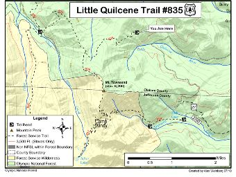 Little Quilcene Trail #835 Map.