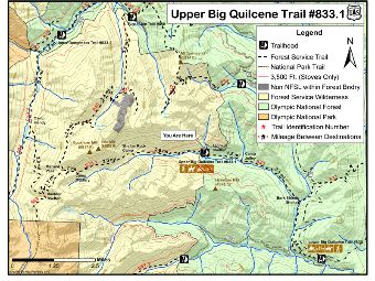 Upper Big Quilcene Trail #841 Map.