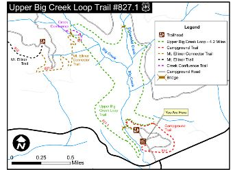 Big Creek Loop Upper Trail #827.1 Map.