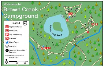 Brown Creek Campground Map.