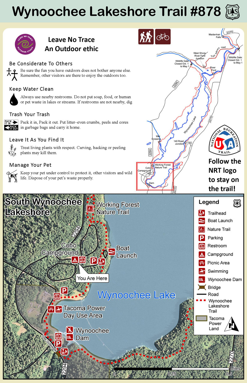 Southern Wynoochee Trail #878 Map and Information. Click for larger version./