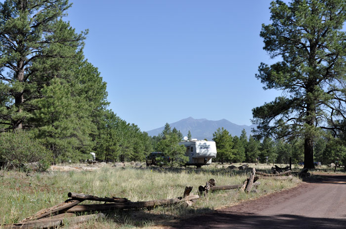 Canyon Vista Campground with view of San Francisco Peaks