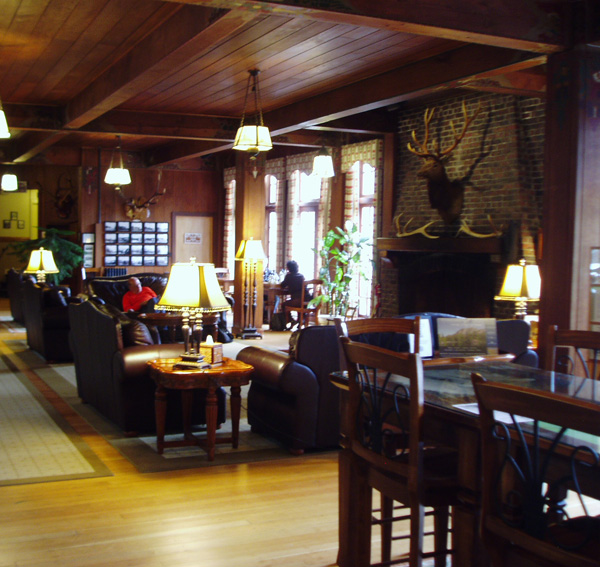 Inside Quinault Lodge.