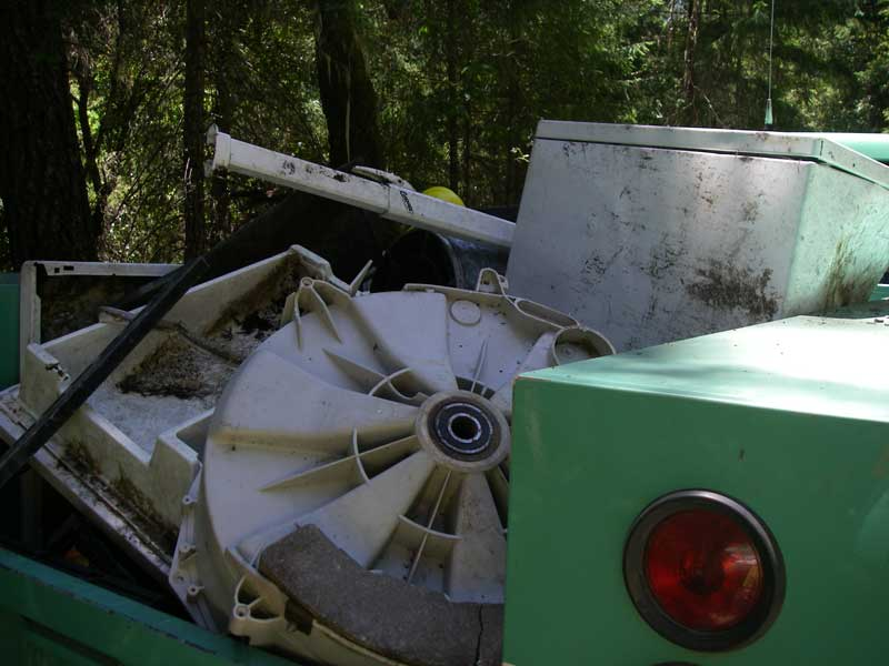 Trash in Forest Service Truck