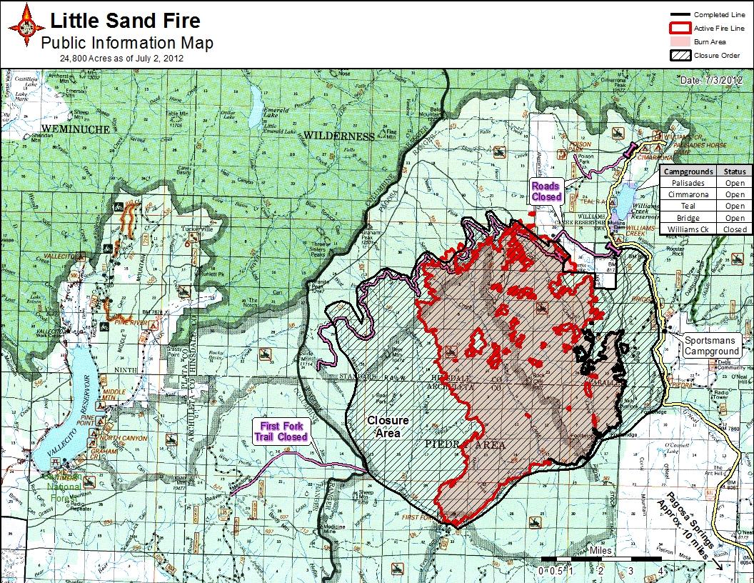 san juan national forest fire map San Juan National Forest News Events