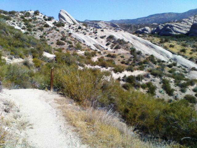 This 1-mile long trail climbs a ridge above the Mormon Rocks Fire Station and affords great views.