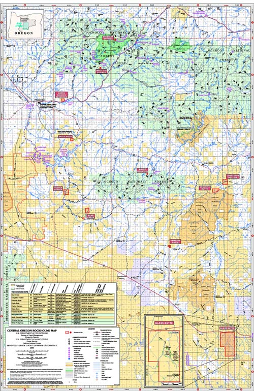 Rockhounding Oregon Map Deschutes National Forest   Rocks & Minerals