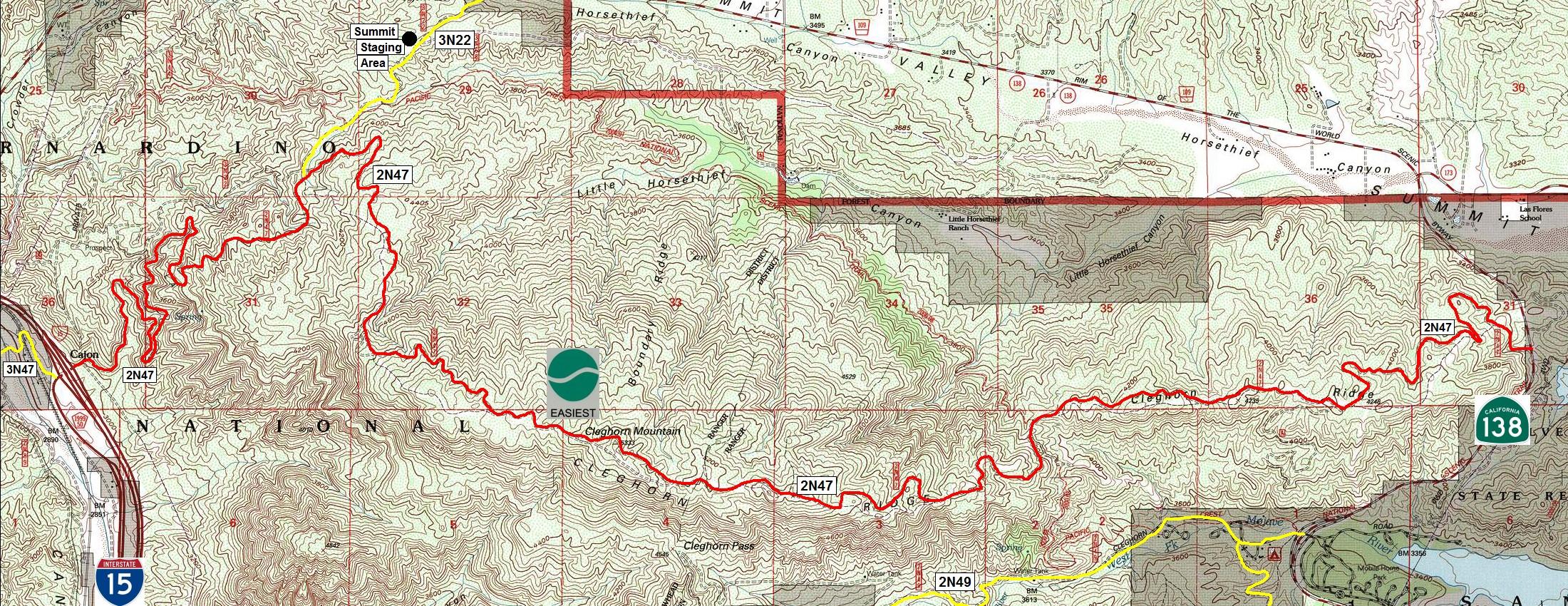 Cajon Pass Fire Map.San Bernardino National Forest Cleghorn Ridge Ohv Road 2n47