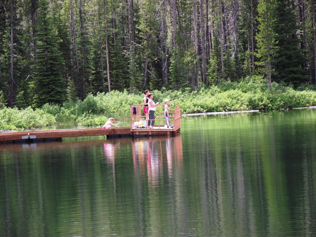 Family Fishing at Martin Lake, Idaho