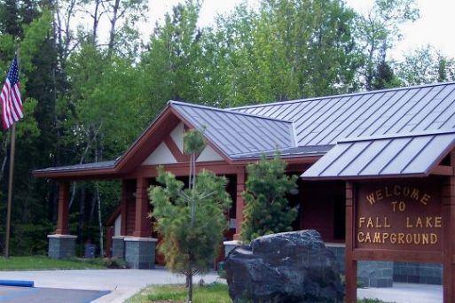 Entrance to Fall Lake Campground.
