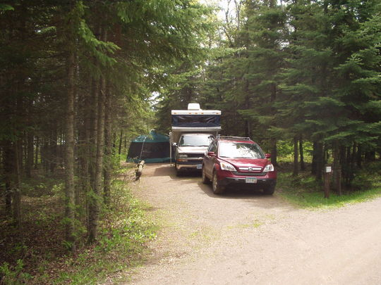 RV and tent camping at Cadotte Lake Campground.