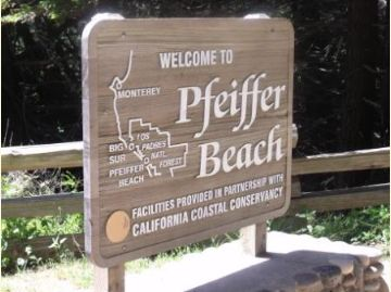[image] Pfeiffer Beach Sign