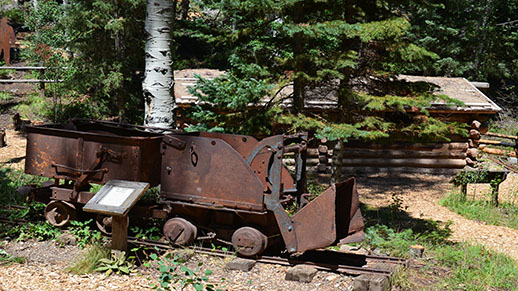 A picture of old mining equipment