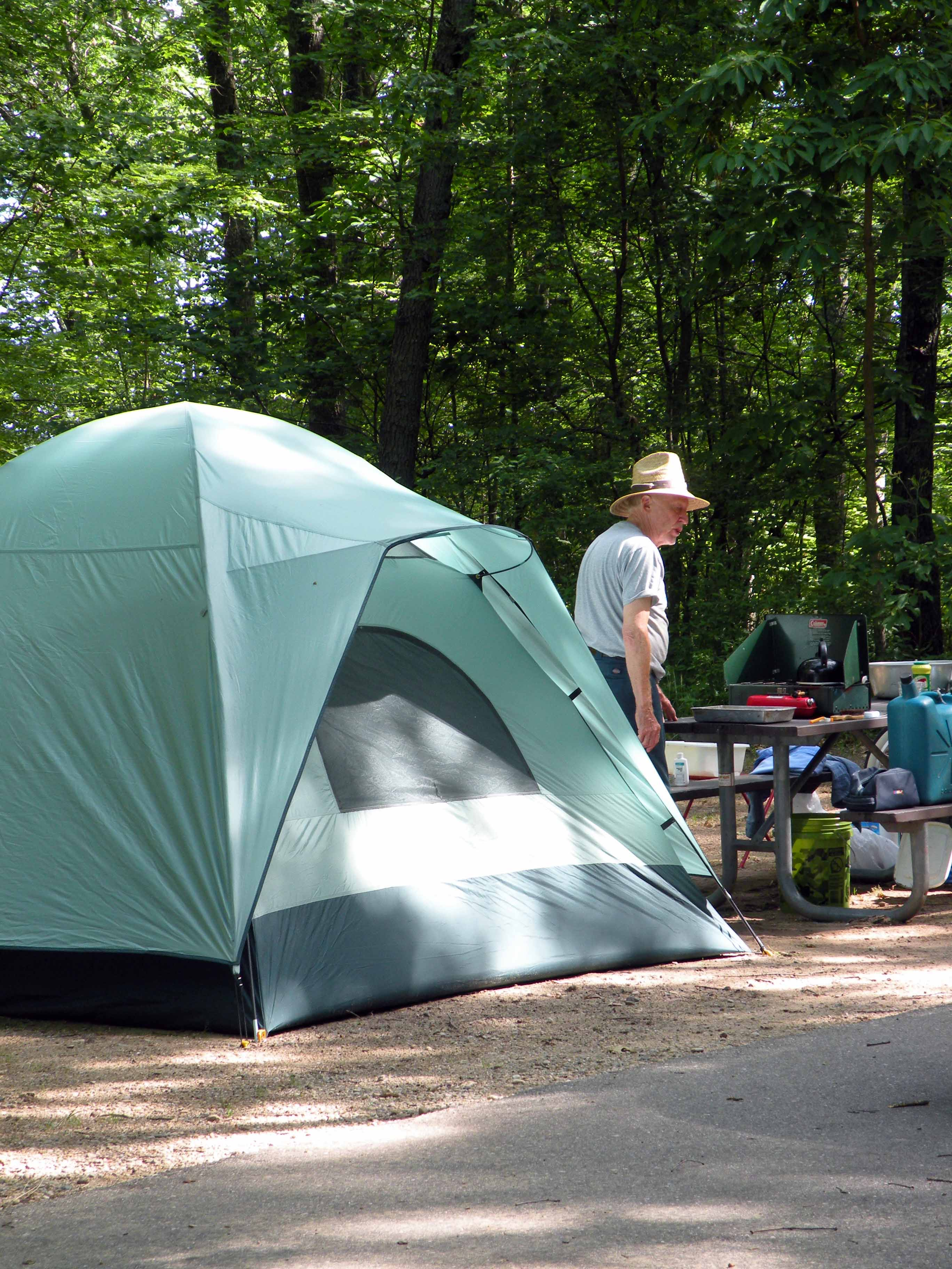 A campsite at Nichols Lake Campground