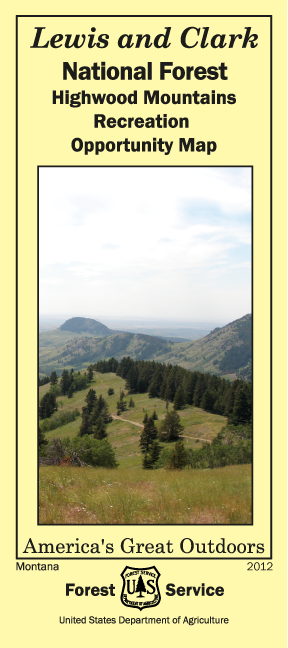 Image of the Cover of the Highwood Mountains Recreation Opportunity Map
