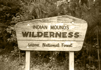 Indian Mounds Wilderness sign