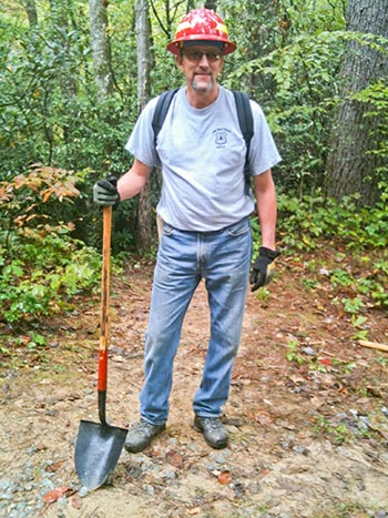 George Bain as he participates in the 2012 National Public Lands Day on the Bartram Trail