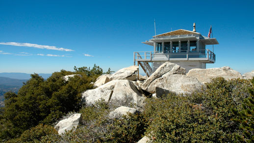 Tahquitz Peak Fire Lookout Interpretive Site overlooks the San Jacinto mountains.