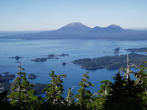 View of Mount Edgecumbe from Harbor Mountain
