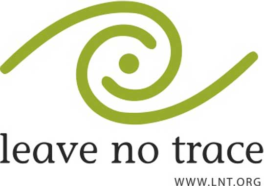 Swirling logo for Leave No Trace at lnt.org