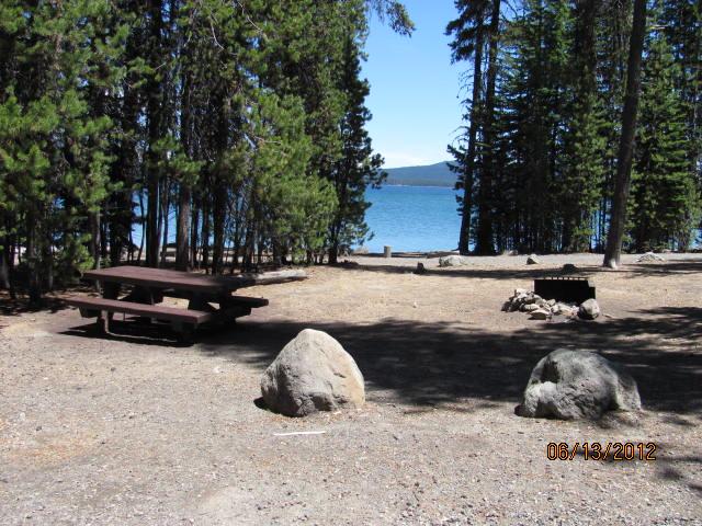 Spring Campsite. On Crescent Lake ...