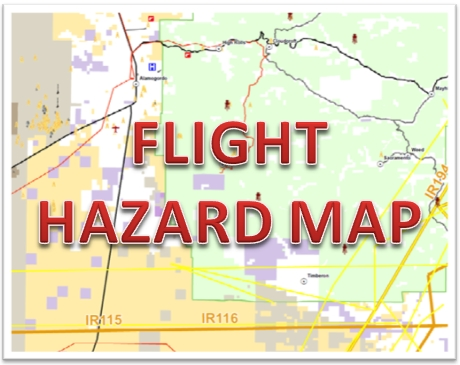 Logo:  Flight Hazard Map