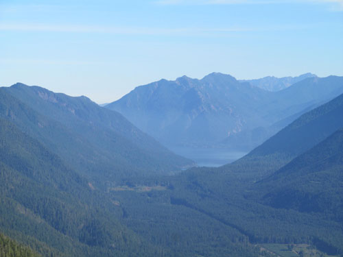 View of Lake Crescent from Kloshe Nanitch viewpoint